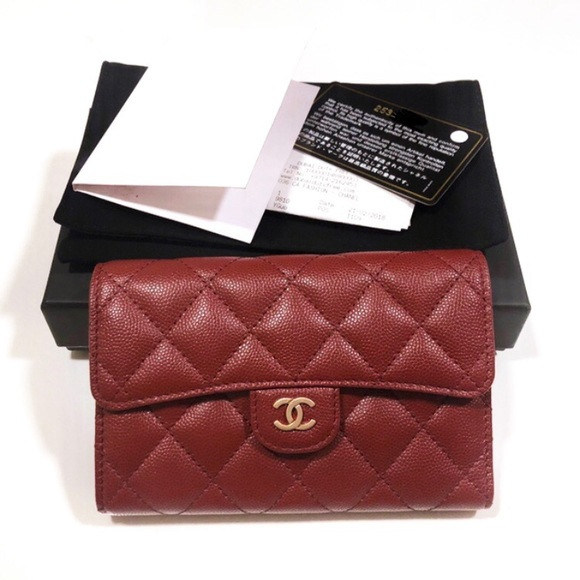 b605cf7a560bbe CHANEL Bags | Nwot Iridescent Red Caviar Wallet | Poshmark